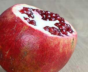ohne deckel granatapfel