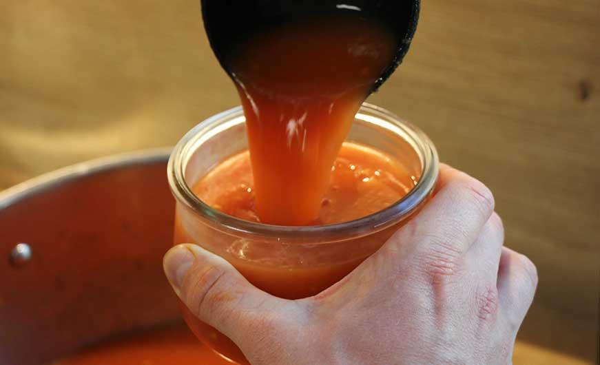 tomatensoße in glaeser abfuellen