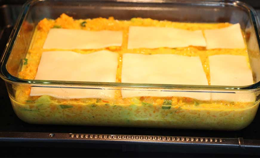 Lasagne im Ofen- vor dem backen