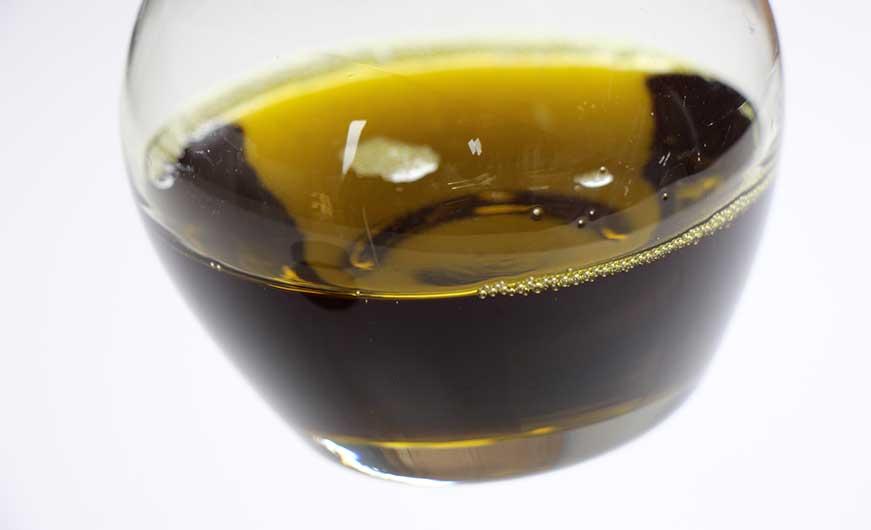 hanfoel in glas