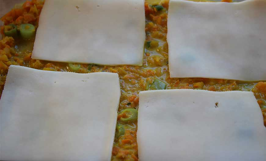 Kaese in Lasagne