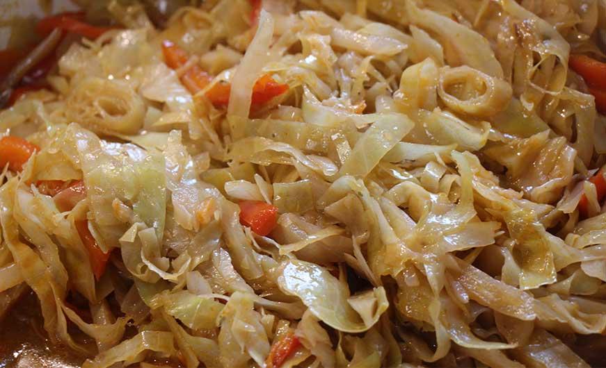 Weißkohl rezept mit Paprika gegart
