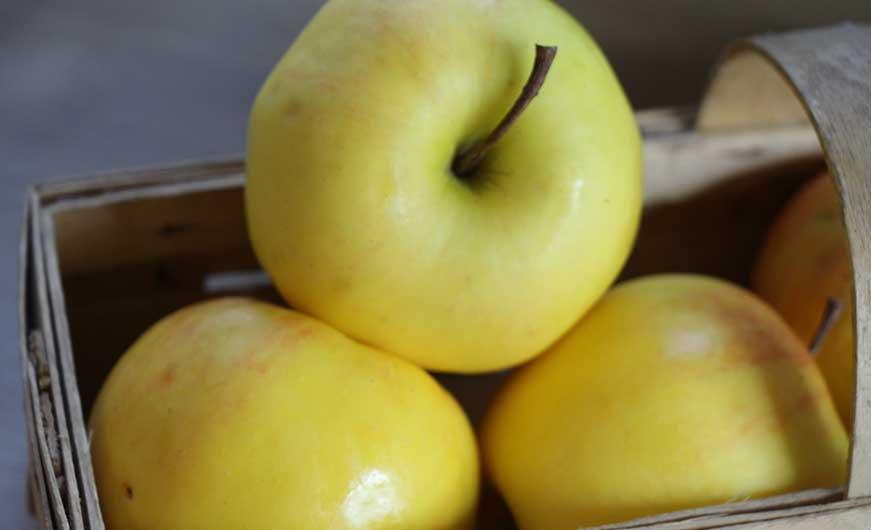 Äpfel in Körbchen