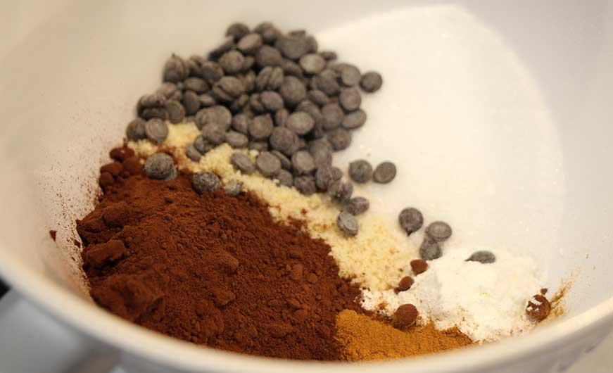 zutaten brownies in schuessel