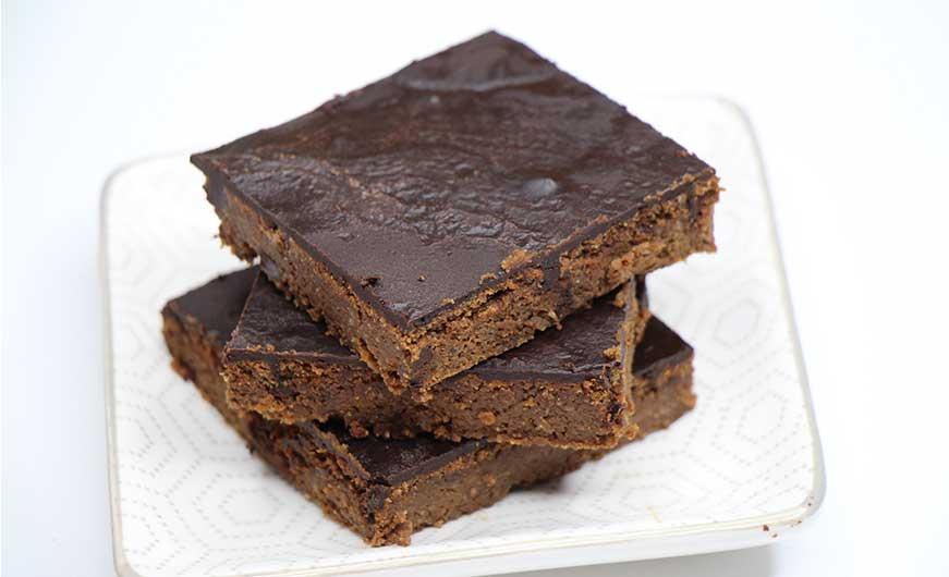 brownies mit glasur schokoladig