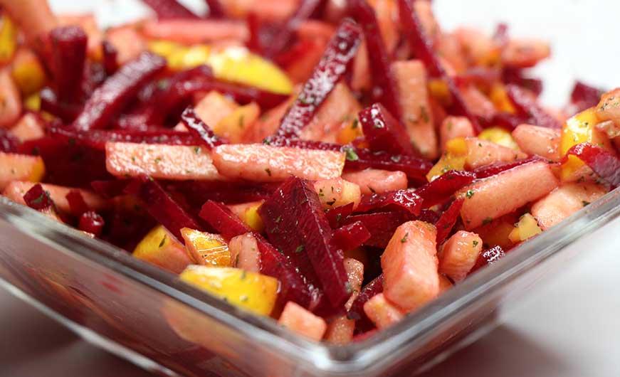 veganer rote beete apfel salat