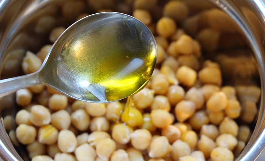 Öl für Kicherebsensnack