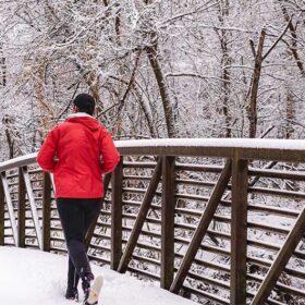 Joggen im Schnee